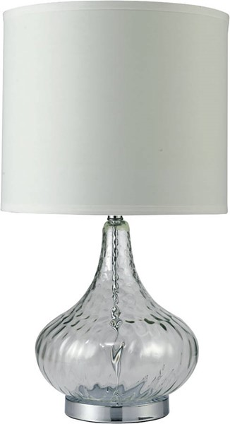 Furniture of America Donna Clear 15 Inch Glass Table Lamp FOA-L731207CL