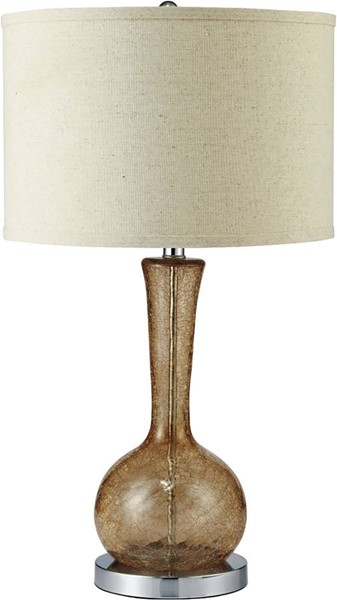 Furniture of America Rachel Amber 15 Inch Glass Table Lamp FOA-L731208