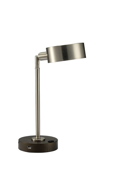 Furniture of America Gail Stain Nickle Table Lamp FOA-L73838SN