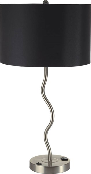 2 Furniture of America Sprig Black Table Lamps FOA-L76224T-BK-2PK