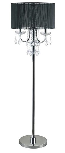 Furniture of America Jada Black Floor Lamp FOA-L76733BK-F