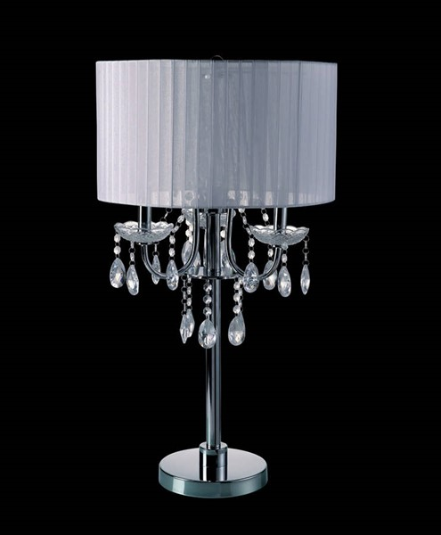 Furniture of America Jada White Table Lamp FOA-L76733WH-T