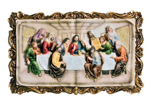 Furniture of America Homili Last Supper Plaque with Frame FOA-L92534-P1