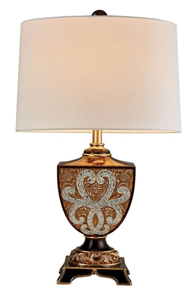 Furniture of America Dolores Gold Brown 28.5 Inch Table Lamp FOA-L9295T