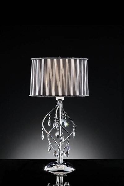 Furniture of America Arya Hanging Crystal Table Lamp FOA-L95123T
