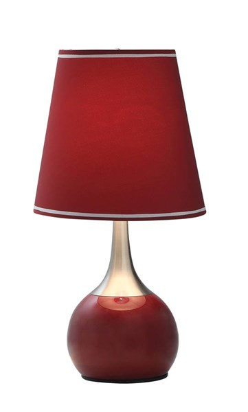 Furniture of America Leah Burgundy Gold Touch Lamp FOA-L9815BD