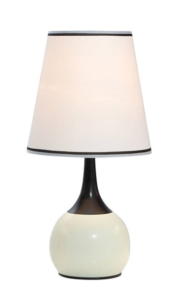 Furniture of America Leah White Gold Touch Lamp FOA-L9815PL