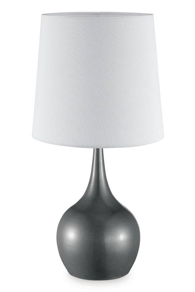 Furniture of America Edie Gray 23.5 Inch Table Lamp FOA-L9820GY
