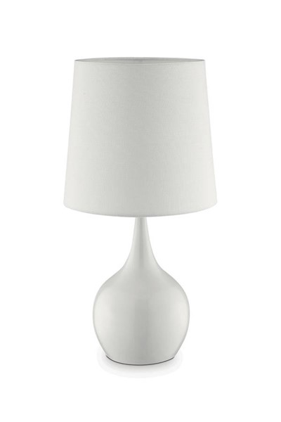 Furniture of America Edie White 23.5 Inch Table Lamp FOA-L9820WH