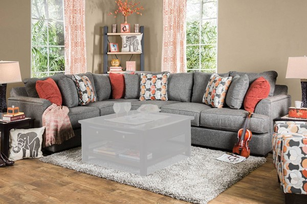 Furniture of America Pennington Gray Sectional FOA-SM1112-SECTIONAL