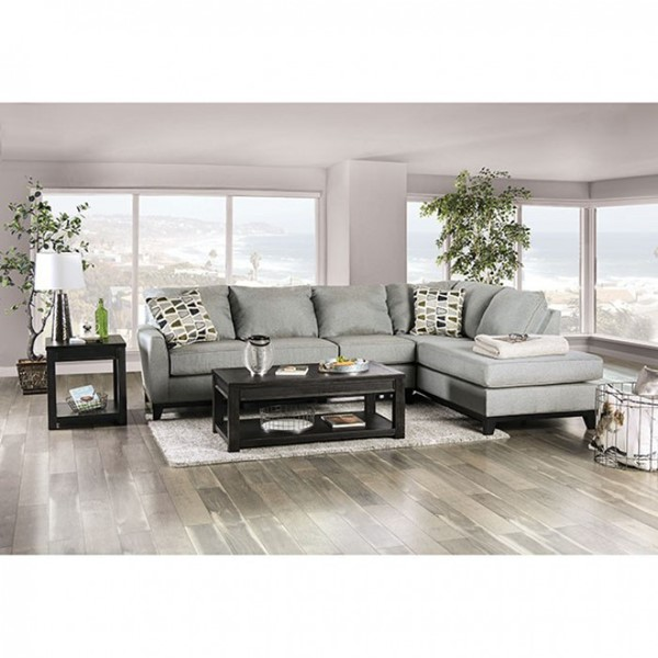 Furniture of America Bridie Gray Sectional FOA-SM1117-SECT