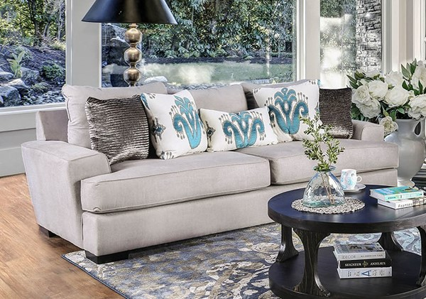 Furniture of America Renesmee Gray Sofa FOA-SM1223-SF