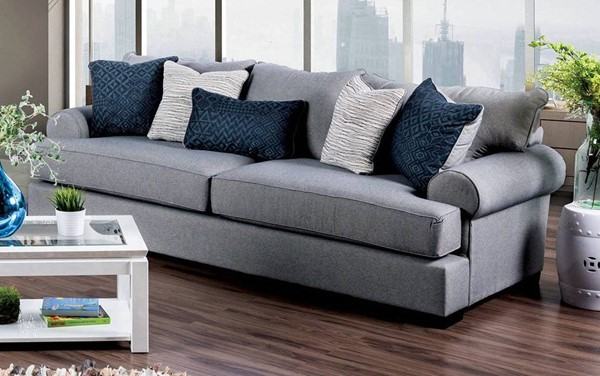 Furniture of America Gilda Gray Sofa FOA-SM1271-SF
