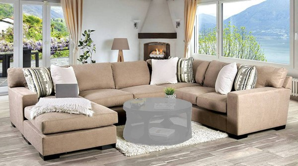 Furniture of America Ferndale Brown Sectional FOA-SM1286-SECT