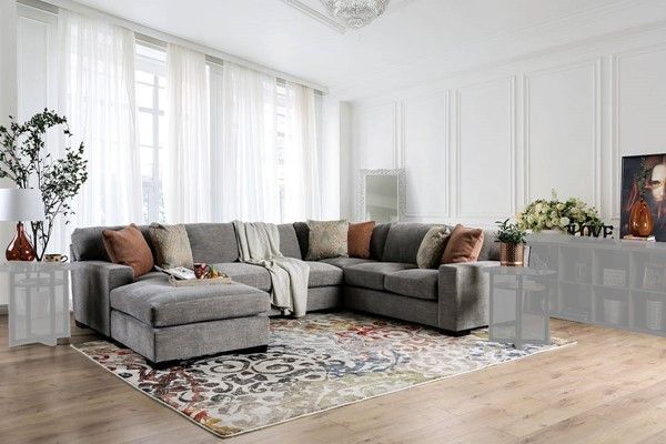 Furniture of America Ferndale Gray Sectional FOA-SM1287-SECT