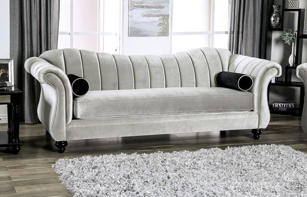 Furniture of America Marvin Pewter Sofa FOA-SM2227-SF