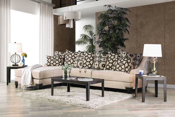 Furniture of America Veritate Fawn Sectional FOA-SM2264-SECT