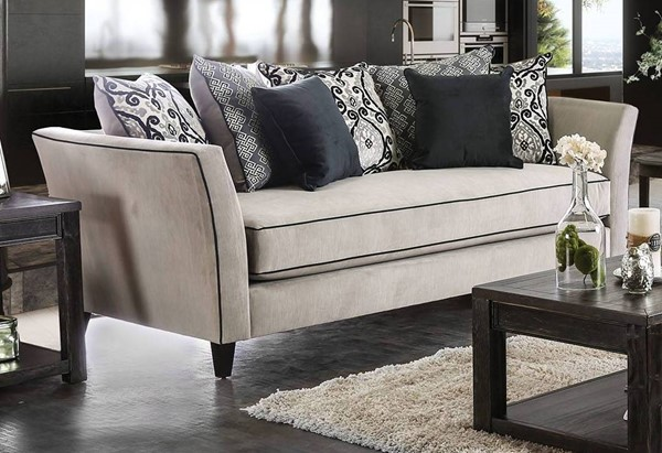 Furniture of America Chantal Gray Sofa FOA-SM2661-SF