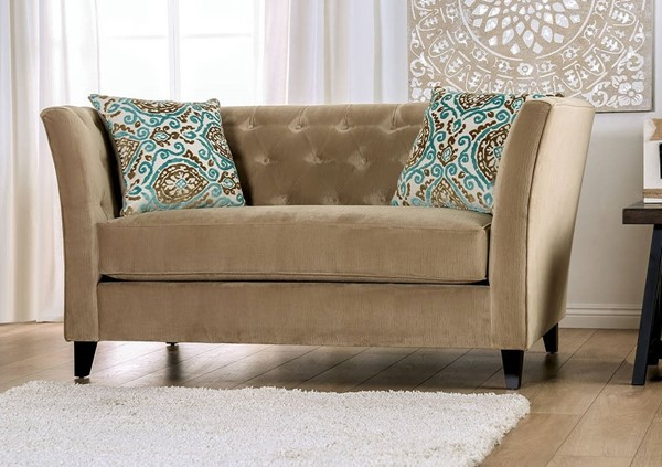 Furniture of America Monaghan Camel Loveseat FOA-SM2666-LV