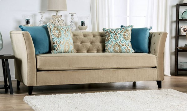 Furniture of America Monaghan Camel Sofa FOA-SM2666-SF