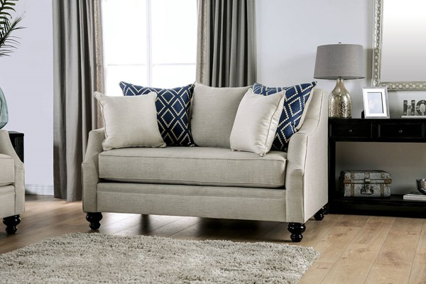 Furniture of America Nefyn Ivory Loveseat FOA-SM2669-LV
