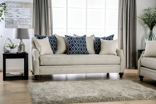 Furniture of America Nefyn Ivory Sofas FOA-SM26-SF-VAR