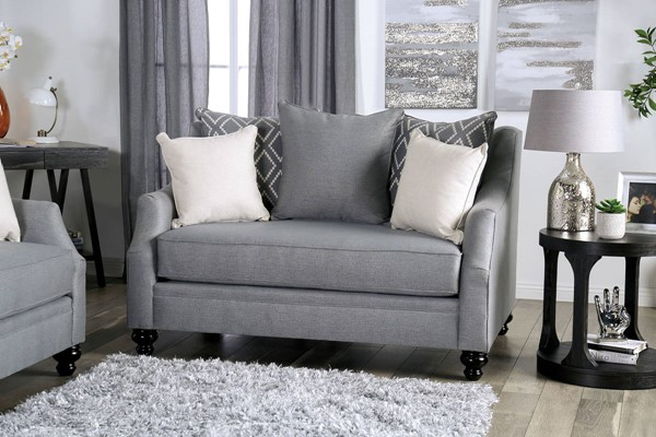 Furniture of America Nefyn Gray Loveseat FOA-SM2670-LV