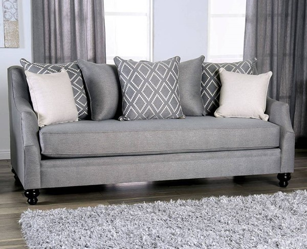 Furniture of America Nefyn Gray Sofa FOA-SM2670-SF