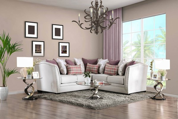 Furniture of America Kizzy Beige Sectional FOA-SM2677-SECT