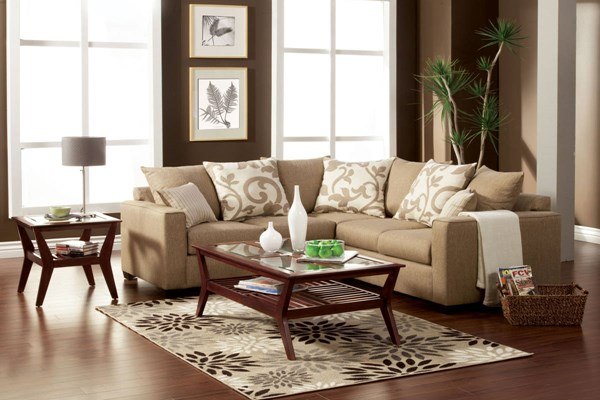 Furniture of America Cranbrook Beige Sectional FOA-SM3016-PK