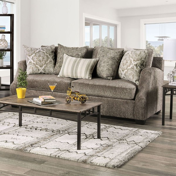 Furniture of America Laila Fabric Sofas FOA-SM3082-SF-VAR