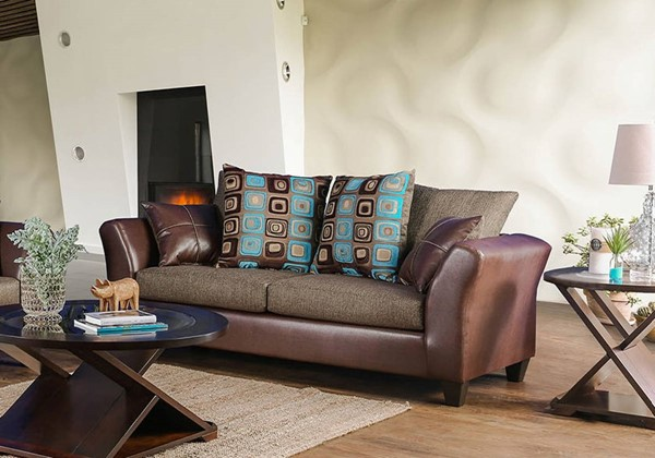 Furniture of America Kaelyn Brown Sofa FOA-SM4080-SF