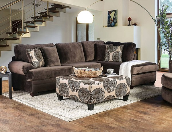Furniture of America Bonaventura Sectionals with Ottomans FOA-SM5143-SECT-OT-VAR