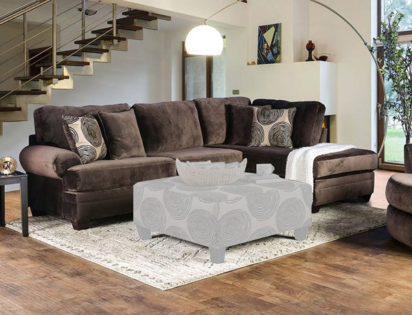 Furniture of America Bonaventura Brown Sectional FOA-SM5143BR-SECT