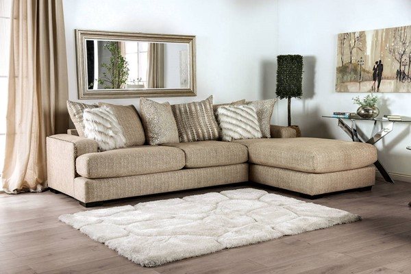 Furniture of America Avery Beige Sectional FOA-SM5145-SECT