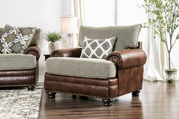 Furniture of America Reyna Brown Chair FOA-SM5147-CH