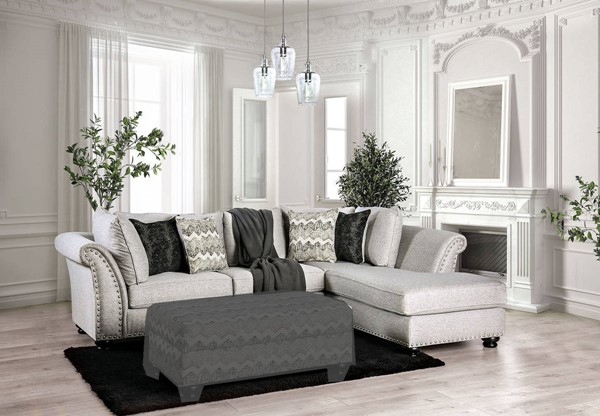 Furniture of America Pasquale Gray Sectional FOA-SM5150-SECT