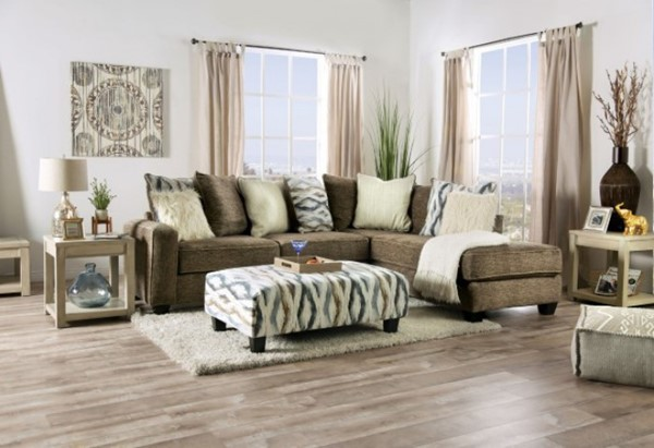 Furniture of America Kempston Brown Sectional FOA-SM5155-SECT