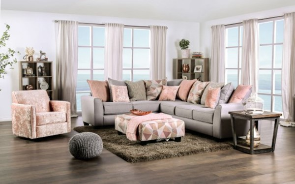 Furniture of America Harriden Gray Sectional FOA-SM5167-SECT