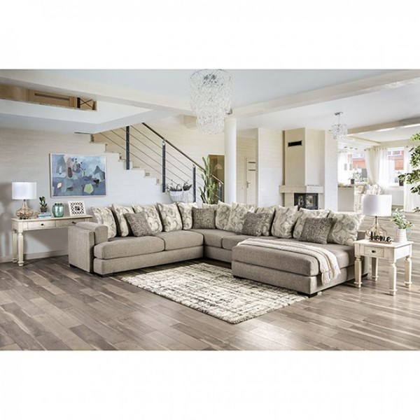 Furniture of America Angelia Light Gray Sectional FOA-SM5182-SECT