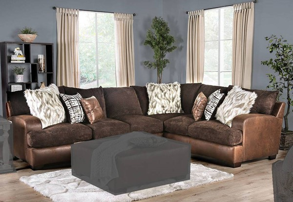 Furniture of America Gellhorn Brown Sectional FOA-SM5202BR-SECT