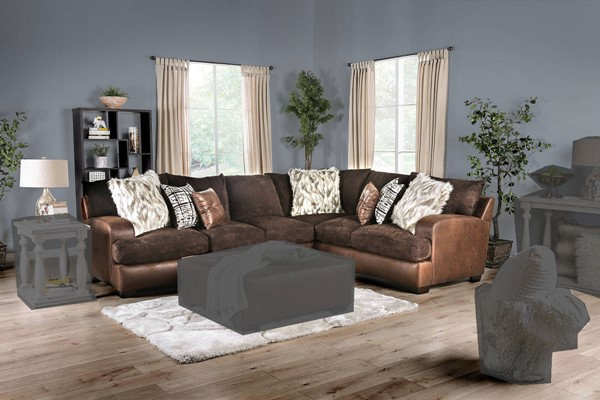 Furniture of America Gellhorn Brown Sectionals FOA-SM5202-SECT-VAR