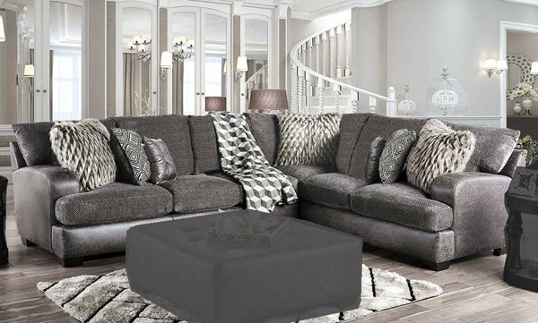 Furniture of America Gellhorn Gray Sectional FOA-SM5202GY-SECT