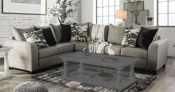 Furniture of America Barnett Gray Sectional FOA-SM5204GY-SECT