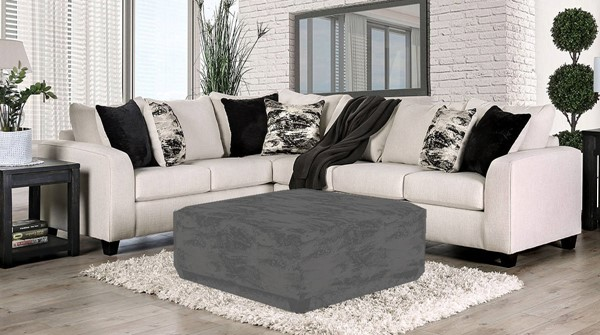 Furniture of America Barnett Ivory Sectional FOA-SM5204IV-SECT