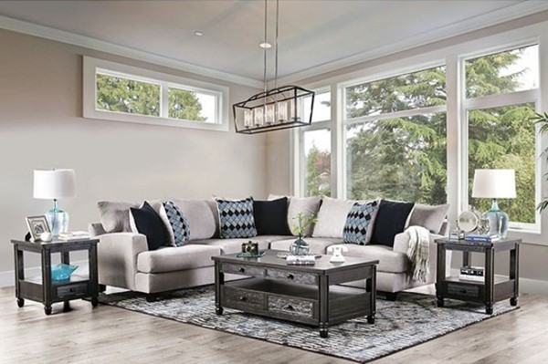 Furniture Of America Walter Light Gray Sectional FOA-SM5210-SECT