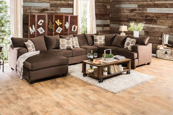 Furniture of America Wessington U-Shaped Sectional FOA-SM6111-SECTIONAL