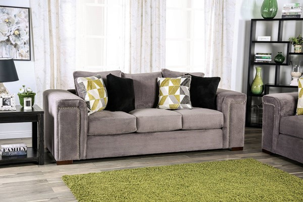 Furniture of America Bradford Warm Gray Sofa FOA-SM6154-SF