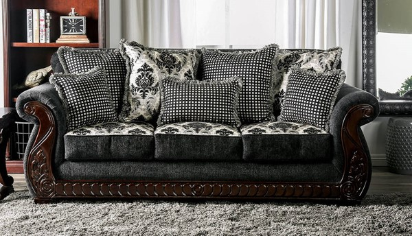 Furniture of America Whitland Gray Sofa FOA-SM6218-SF