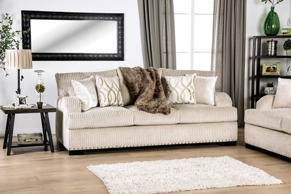 Furniture of America Zayla Golden Ivory Sofa FOA-SM6223-SF